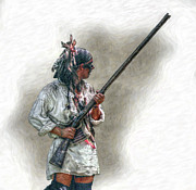 Randy Steele - Warrior with Rifle French and Indian War