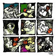 Boxing Digital Art - Warriors of the Octagon by Dan Daulby