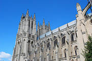 Kaufman Digital Art Acrylic Prints - Washington National Cathedral After August Earthquake Acrylic Print by Eva Kaufman