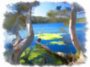 Look Out Art - WAT-0002 Avoca Estuary by Digital Oil