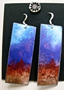 Red Jewelry - Watercolor Earrings Artists Favorite by Beverley Harper Tinsley