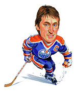 Hockey Paintings - Wayne Gretzky by Art  