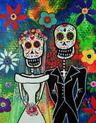 Pristine Cartera Turkus - Wedding Couple Day Of The Dead