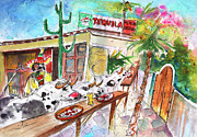 Food And Beverage Drawings Acrylic Prints - Welcome to Cyprus 03 Acrylic Print by Miki De Goodaboom
