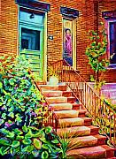 French Cities Paintings - Westmount Home by Carole Spandau