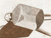Rusty Drawings - Wheelbarrow by Pat Price