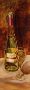 Vic Mastis Paintings - White Wine-Joyous by Vic  Mastis
