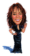 Singer Paintings - Whitney Houston by Art