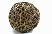 Sale Printing Framed Prints - Wicker Ball Framed Print by Michael Waters