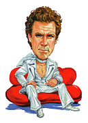 Celeb Prints - Will Ferrell Print by Art
