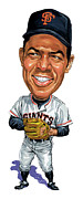 Professional Paintings - Willie Mays by Art  