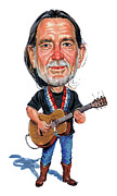 Art  Prints - Willie Nelson Print by Art