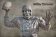 Nfl Posters - Willie Thrower Quarterback Poster by Randy Steele