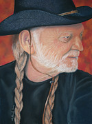 Willie Nelson Painting Originals - Willy by Charles Hubbard