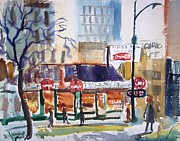 Advertisment Paintings - Wilsons Coffee Shop by Bill Joseph  Markowski
