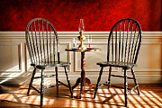 Treatment Metal Prints - Windsor Chairs Metal Print by Olivier Le Queinec