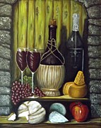 Bread Paintings - Wine V by Donna Vesely