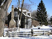 Split Rail Fence Originals - Winter cabin 1 by Bruce Ritchie