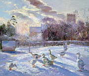 Timothy Easton - Winter Geese in Church Meadow