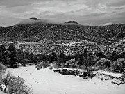 White Snow Acrylic Prints - Winter Hills Acrylic Print by Atom Crawford