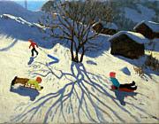 Andrew Macara - Winter hillside Morzine France