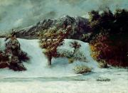 Gustave Courbet - Winter Landscape With The Dents Du Midi