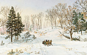 Jasper Francis Cropsey - Winter on Ravensdale Road
