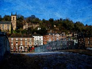 Saint Luke Framed Prints - Wintry Ironbridge Framed Print by Sarah Broadmeadow-Thomas