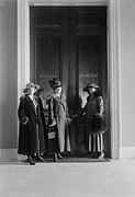 Rights Prints - Women Suffragists At The Doors Print by Everett
