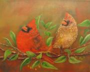 Pear Tree Paintings - Woodland Royalty by Loretta Luglio