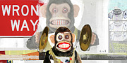 Monkey Posters - Wrong Place Wrong Time Poster by Michel  Keck
