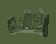 Wheels Digital Art Prints - WW2 Rod Print by Jeremy Lacy