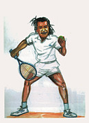 Noah Framed Prints - Yannick Noah Framed Print by Emmanuel Baliyanga