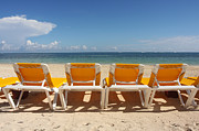 Julie Bostian - Yellow Beach Chairs