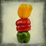 Bernard Jaubert - Yellow red and green bell pepper