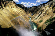 Color_image Posters - Yellowstone River over the Falls Poster by John Brink