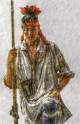 Randy Steele - Young Delaware Indian Portrait