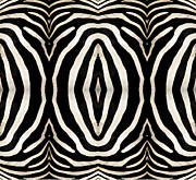 Pelts Prints - Zebra Hide Print by Rose Santuci-Sofranko