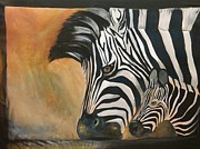 Zebra Paintings - Zebra series by Nicole Stewart