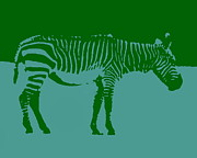 Ramona Johnston - Zebra Silhouette Green Blue