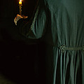 Gentleman In 18th Century Clothing With A Candle by Jill Battaglia