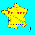 Bruce Nutting - Map of France