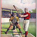 1895 Batter Up At Home Plate by Daniel Hagerman