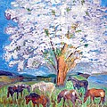 Vicky Tarcau - Spring and Horses 1