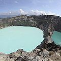 Colourful Crater Lakes Of Kelimutu by Richard Roscoe