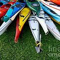 A Stack Of Kayaks by Amy Cicconi