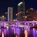 Frozen in Time Fine Art Photography - A Tampa Night Panorama