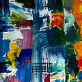 Abstract Color Relationships L by Michelle Calkins