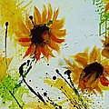 Ismeta Gruenwald - Abstract Sunflowers 2