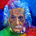 Albert Einstein by David Lloyd Glover